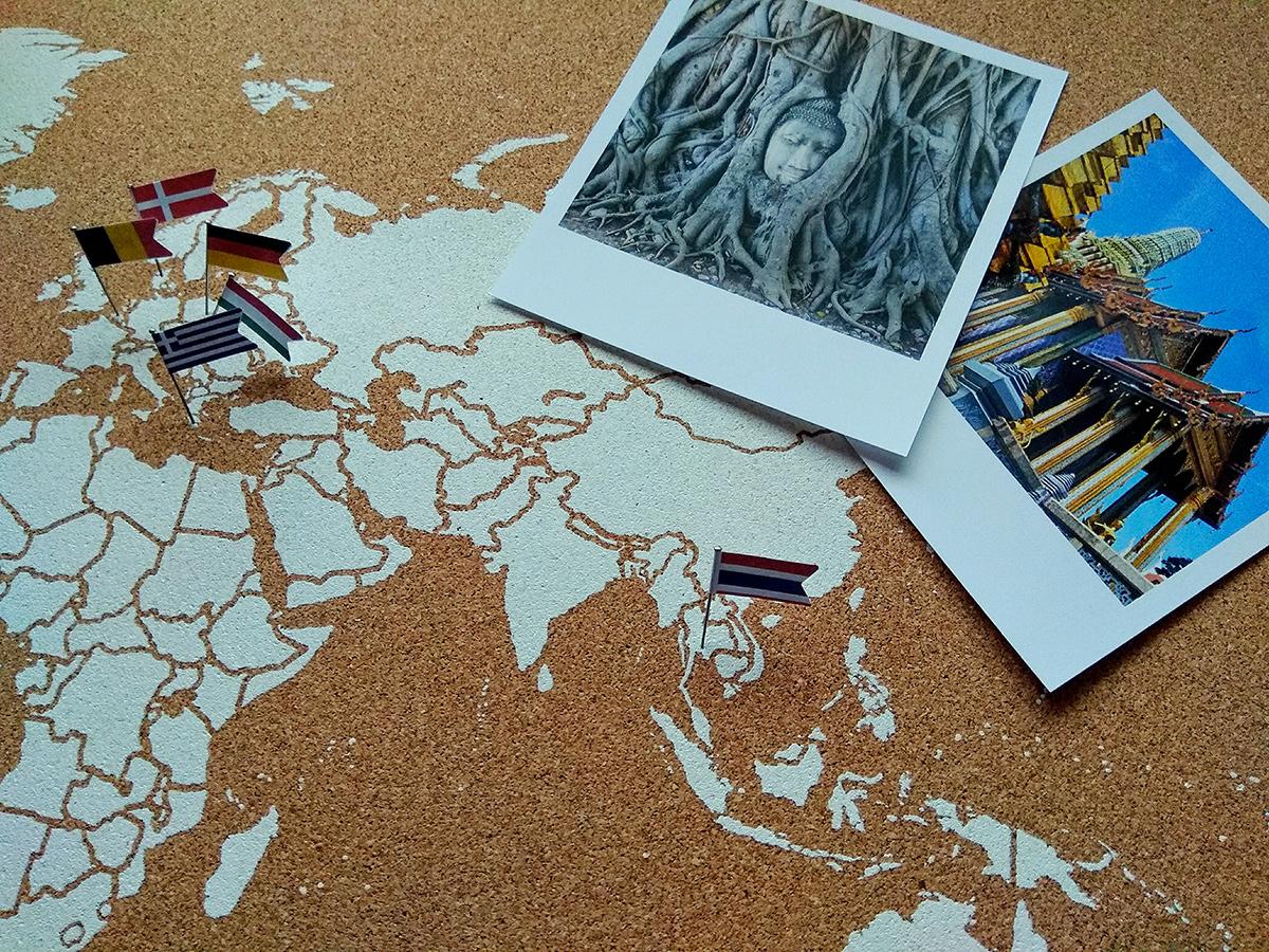 Cartina Mondo In Sughero.Mappe Del Mondo In Sughero Miss Wood Tieni Traccia Di Ogni Viaggio