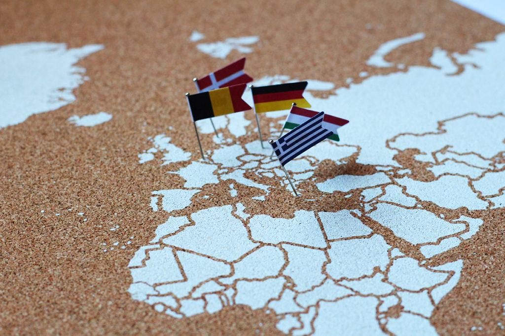 Cartina Mondo Da Riempire.Mappe Del Mondo In Sughero Miss Wood Tieni Traccia Di Ogni Viaggio