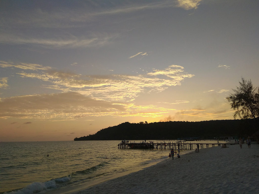 sunset koh rong