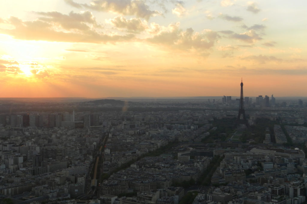 vista dalla tour montparnasse