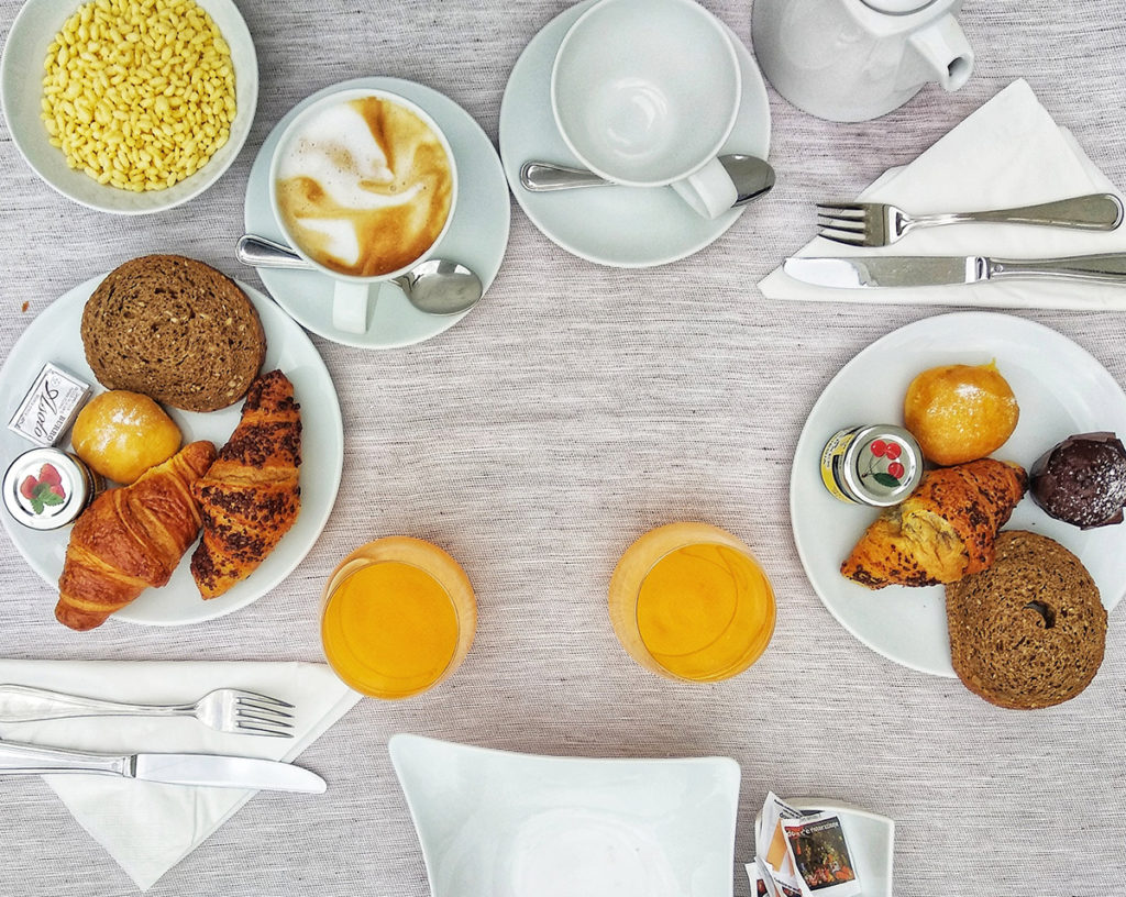 La colazione al Rimini Suite Hotel