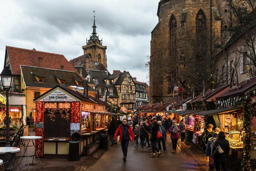 Tipica atmosfera dell'Alsazia a Natale