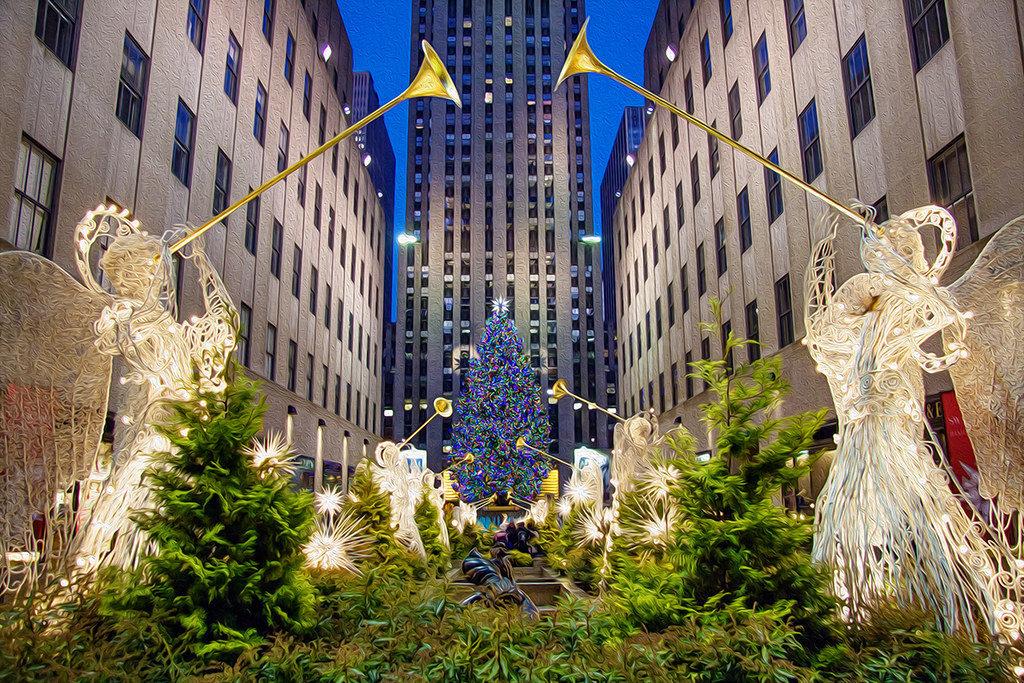 Il Rockefeller Center a Natale