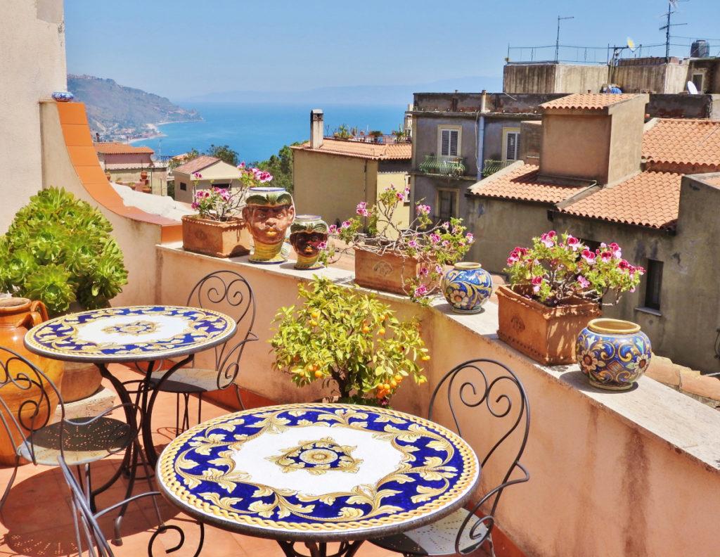 terrazza di b&b Cielo di Taormina