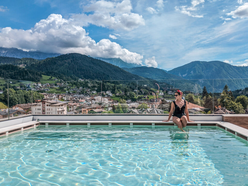 infinity pool trentino brunet hotels