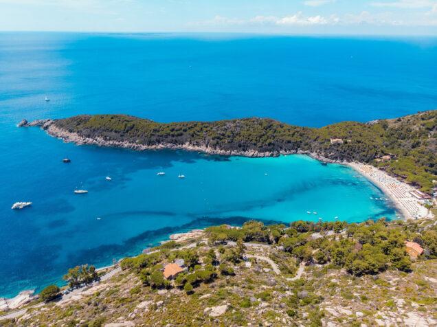 mappa spiagge isola d'elba